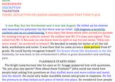Flashback Short Story Example