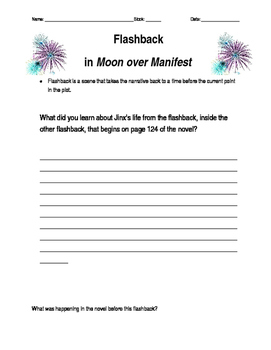 """Flashback in """"Moon over Manifest"""""""