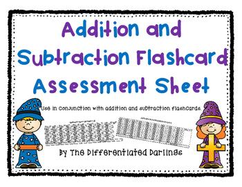 Flashcard Assessment Sheet
