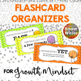 Flashcard Organizers for Growth Mindset {Freebie!}