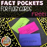 Flashcard Pockets for Growth Mindset {Freebie!}