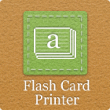 Flash Card Printer Software