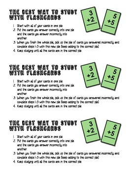 Flashcard Study Directions