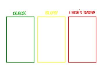 Flashcard mat