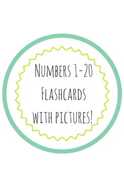 Flashcards 1-20 with pictures!