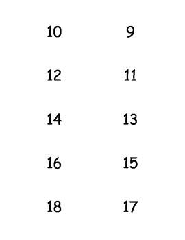 Flashcards +9 addition