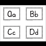 Flashcards A-Z and 0-9 with Color or Black & White Pictures - Sunshine Script