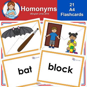 Flashcards - A4 Homonyms