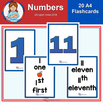 Flashcards -  A4 Numbers