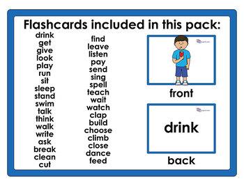 Flashcards – A4 Verbs Set 1