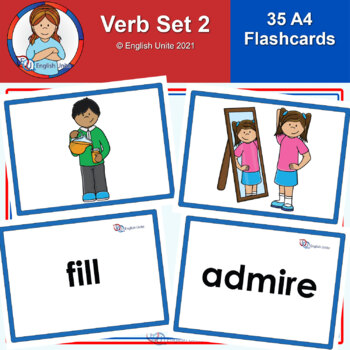 Flashcards – A4 Verbs Set 2