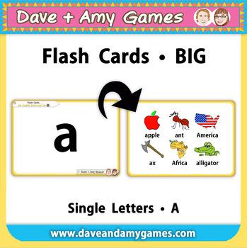 ABC Phonics Flashcards (letters/ big)