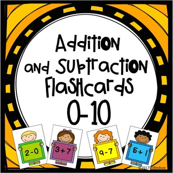 Flashcards - Add and Subtract - 0 to 10