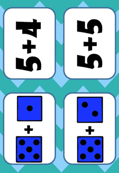 Flashcards Additions 5+