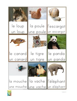 Flashcards Animals in French 2