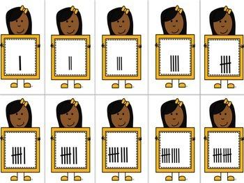 Base Ten Blocks Flashcards|Tally Marks Flashcards|Number Flashcards