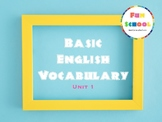 Flashcards - Basic English Vocabulary 1