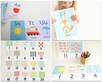 Alphabet and Number Flashcard Bundle
