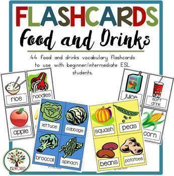 Vocabulary Flashcards Bundle 300+ Words for ESL