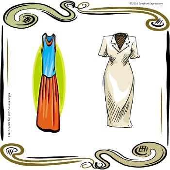 Flashcards for Clothing - La Ropa