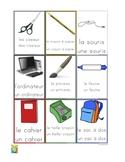 Flashcards school objects - Les objets de l'école