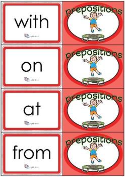 Flashcards - Common Prepositions