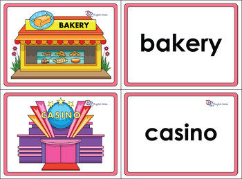Flashcards - Community Workers and Buildings Bundle
