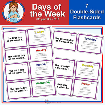 Flashcards - Days of the week