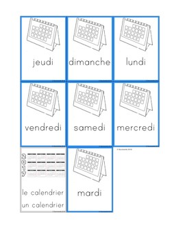 Flashcards Days of the week - Les jours de la semaine