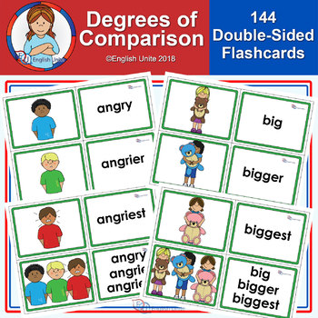 Flashcards Degrees Of Comparison By English Unite