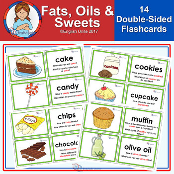 Flashcards - Fats, oils and sweets