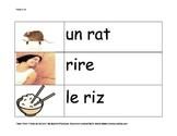 Cartes-éclair Mots avec la lettre R / Flashcards Words with the letter R French