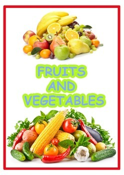 Flashcards  Fruits and Vegetables (English  Russian and Spanish)