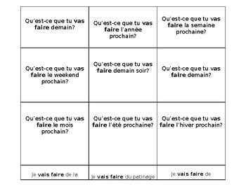 Flashcards - Futur Proche - Questions & Answers