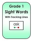 Flashcards: Grade One Sight Words with Tracking Lines