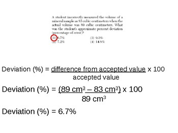 Flashcards- How to Calculate Percent Deviation