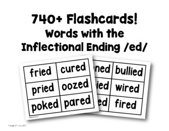 Flashcards (Inflectional Ending /ed/)