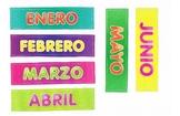 Flashcards Meses del Año / Divertidos colores