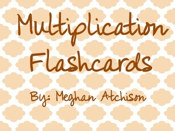 Flashcards- Multiplication