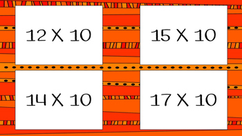 Flashcards: Multiplying with 10, 100, and 1,000