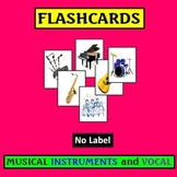 Flashcards: Musical Instruments and Voices, No Label