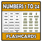 Flashcards - Numbers - Números 1-24