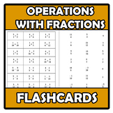 Flashcards - Operations with fractions