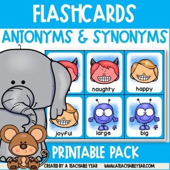 Flashcards - Opposite Adjectives