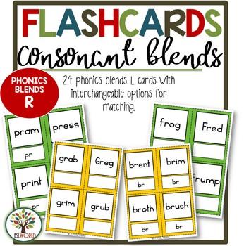 Flashcards Phonics Consonant Blends R
