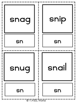 Flashcards Phonics Consonant Blends S