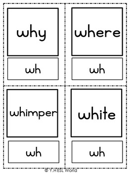 Flashcards Phonics Consonant Blends W
