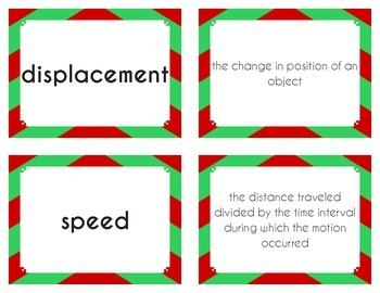 Flashcards - Physical Science: Motion