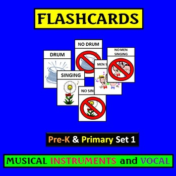 Flashcards: PreK and Primary Set 1 Musical Instruments and Voices