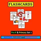 Flashcards: PreK and Primary Set 1 Rhythm, Melody, Expression